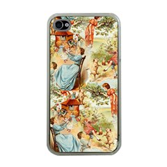 Seamless Vintage Design Apple Iphone 4 Case (clear)