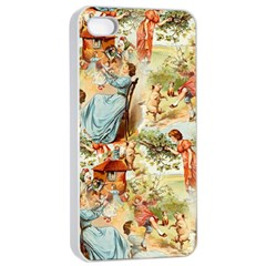 Seamless Vintage Design Apple Iphone 4/4s Seamless Case (white)