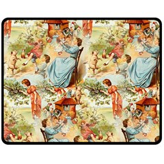 Seamless Vintage Design Double Sided Fleece Blanket (medium)