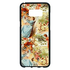 Seamless Vintage Design Samsung Galaxy S8 Plus Black Seamless Case
