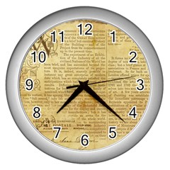Vintage Background Paper Wall Clocks (silver)