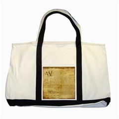 Vintage Background Paper Two Tone Tote Bag