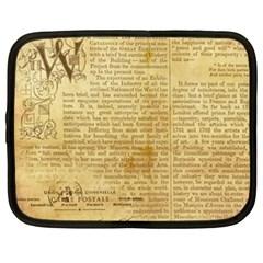 Vintage Background Paper Netbook Case (xxl)