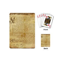 Vintage Background Paper Playing Cards (mini)