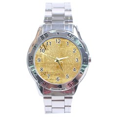 Vintage Background Paper Stainless Steel Analogue Watch