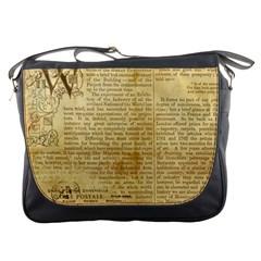 Vintage Background Paper Messenger Bags