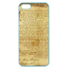 Vintage Background Paper Apple Seamless Iphone 5 Case (color)