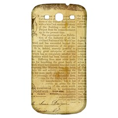 Vintage Background Paper Samsung Galaxy S3 S Iii Classic Hardshell Back Case