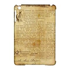 Vintage Background Paper Apple Ipad Mini Hardshell Case (compatible With Smart Cover)