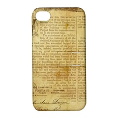 Vintage Background Paper Apple Iphone 4/4s Hardshell Case With Stand