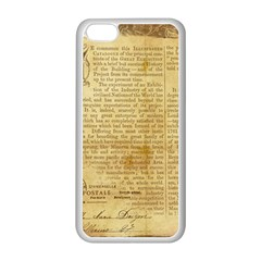 Vintage Background Paper Apple Iphone 5c Seamless Case (white)