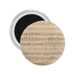 Vintage Beige Music Notes 2 25  Magnets