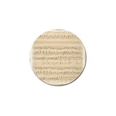 Vintage Beige Music Notes Golf Ball Marker (4 Pack)