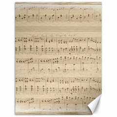Vintage Beige Music Notes Canvas 12  X 16