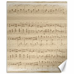 Vintage Beige Music Notes Canvas 20  X 24