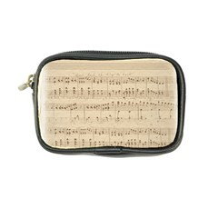 Vintage Beige Music Notes Coin Purse