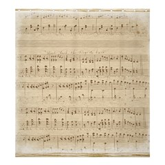 Vintage Beige Music Notes Shower Curtain 66  X 72  (large)