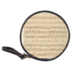 Vintage Beige Music Notes Classic 20 Cd Wallets
