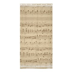 Vintage Beige Music Notes Shower Curtain 36  X 72  (stall)
