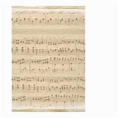 Vintage Beige Music Notes Small Garden Flag (two Sides)