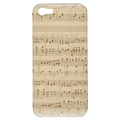 Vintage Beige Music Notes Apple Iphone 5 Hardshell Case