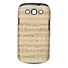 Vintage Beige Music Notes Samsung Galaxy S Iii Classic Hardshell Case (pc+silicone)