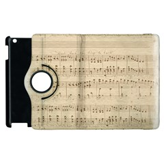 Vintage Beige Music Notes Apple Ipad 2 Flip 360 Case