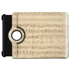 Vintage Beige Music Notes Kindle Fire Hd 7