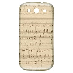 Vintage Beige Music Notes Samsung Galaxy S3 S Iii Classic Hardshell Back Case