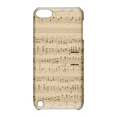 Vintage Beige Music Notes Apple Ipod Touch 5 Hardshell Case With Stand