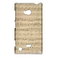 Vintage Beige Music Notes Nokia Lumia 720