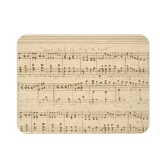Vintage Beige Music Notes Double Sided Flano Blanket (mini)