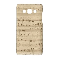 Vintage Beige Music Notes Samsung Galaxy A5 Hardshell Case