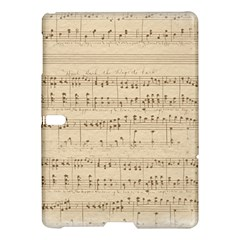 Vintage Beige Music Notes Samsung Galaxy Tab S (10 5 ) Hardshell Case