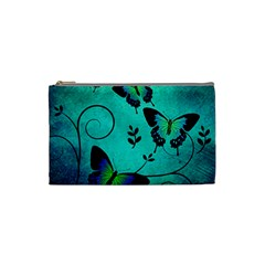 Texture Butterflies Background Cosmetic Bag (small)
