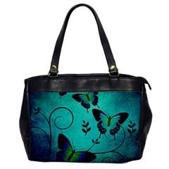 Texture Butterflies Background Office Handbags