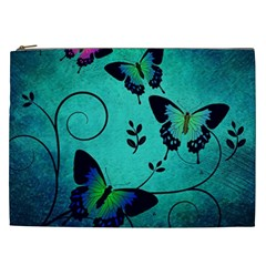 Texture Butterflies Background Cosmetic Bag (xxl)