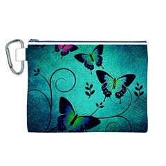 Texture Butterflies Background Canvas Cosmetic Bag (l)