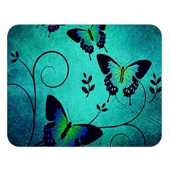 Texture Butterflies Background Double Sided Flano Blanket (large)