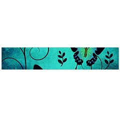 Texture Butterflies Background Large Flano Scarf