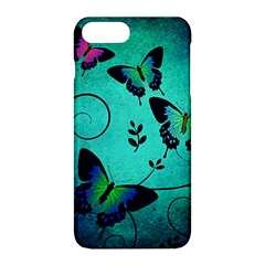 Texture Butterflies Background Apple Iphone 8 Plus Hardshell Case