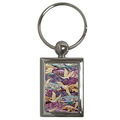 Textile Fabric Cloth Pattern Key Chains (rectangle)