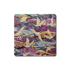 Textile Fabric Cloth Pattern Square Magnet