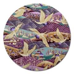 Textile Fabric Cloth Pattern Magnet 5  (round)