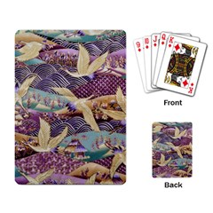 Textile Fabric Cloth Pattern Playing Card