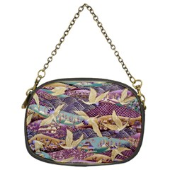 Textile Fabric Cloth Pattern Chain Purses (two Sides)