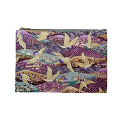 Textile Fabric Cloth Pattern Cosmetic Bag (large)