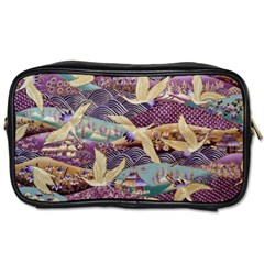 Textile Fabric Cloth Pattern Toiletries Bags 2 Side