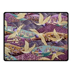 Textile Fabric Cloth Pattern Fleece Blanket (small)