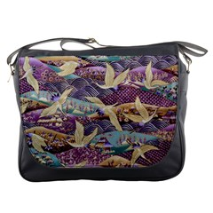 Textile Fabric Cloth Pattern Messenger Bags
